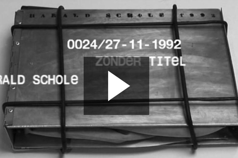 Presentation Vedute 0024, ZONDER TITEL Harald Schole, 27-11-1992